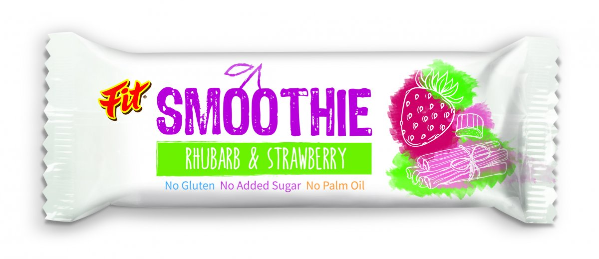 FIT SMOOTHIE BAR with rhubarb and strawberry