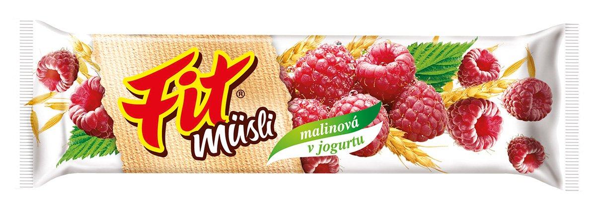 Fit müsli tyčinka Malinová v jogurtu